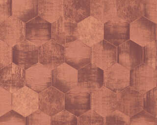 A.S. Création Wallpaper «Graphics, Brown, Copper, Metallic» 363305
