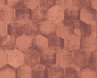 A.S. Création papier peint «Graphique, cuivre, marron, métallique» 363305