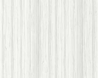 A.S. Création papier peint intissé «Bois, blanc, gris» 363331