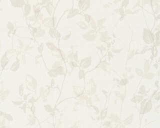 A.S. Création papier peint «Maison, Floral, beige, crème, gris, taupe» 363971