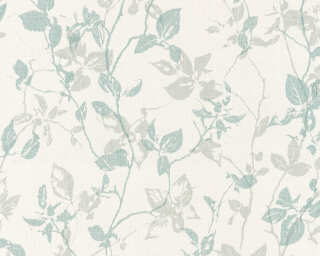 A.S. Création Wallpaper «Cottage, Floral, Cream, Green, Grey» 363972