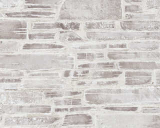A.S. Création Wallpaper «Stone, Cottage, Beige, Brown, Cream» 364593