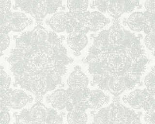 Livingwalls papier peint «Baroque, Floral, argent, blanc, gris, métallique» 364631