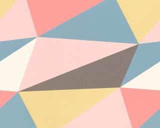 A.S. Création Wallpaper «Graphics, Blue, Brown, Cream, Pink» 364751