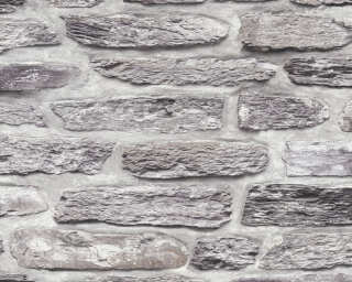 A.S. Création Wallpaper «Stone, Black, Grey» 364781