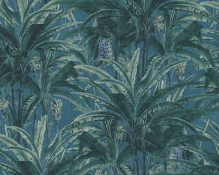 A.S. Création papier peint «Jungle, bleu, vert» 364801
