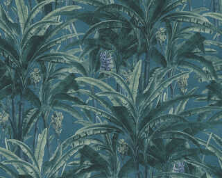 A.S. Création Tapete «Dschungel, Blau, Grün» 364801