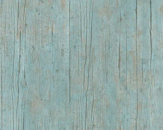 Lutèce Wallpaper «Wood, Cottage, Blue, Brown, Green, Turquoise» 364871