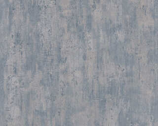 A.S. Création Wallpaper «Uni, Blue, Bronze, Metallic» 364934