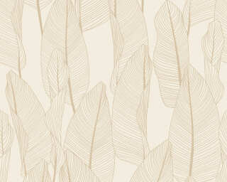 A.S. Création Wallpaper «Cottage, Floral, Beige, Cream, Grey, Taupe» 364977