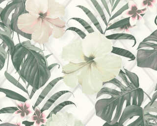 MICHALSKY LIVING Wallpaper «Jungle, Cream, Green, Grey, Pink» 365182