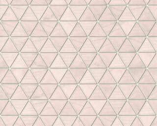 Lutèce Tapete «Holz, 3D, Grau, Metallics, Rosa» 366221