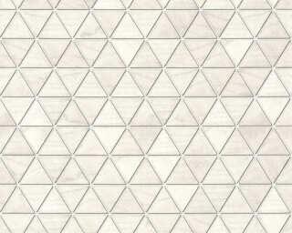 Lutèce papier peint «Bois, 3D, beige, blanc, gris, métallique» 366222