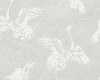 A.S. Création papier peint «Graphique, blanc, gris» 366311