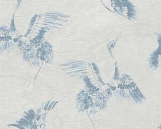 A.S. Création papier peint «Graphique, bleu, gris» 366312