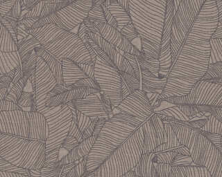 A.S. Création Wallpaper «Floral, Beige, Black, Grey, Taupe» 366334