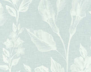 A.S. Création papier peint «Fleurs, blanc, bleu» 366362