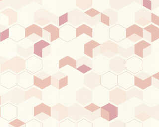 A.S. Création Wallpaper «Graphics, Beige, Pink, Red, White» 366832