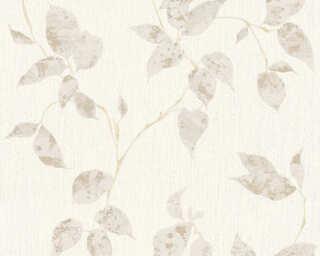 A.S. Création Wallpaper «Cottage, Floral, Beige, Cream, White» 366871