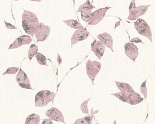 A.S. Création Wallpaper «Cottage, Floral, Grey, Pink, White» 366875