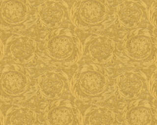 Versace Home Wallpaper «Baroque, Flowers, Gold, Metallic, Yellow» 366923