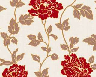 A.S. Création Wallpaper «Flowers, Brown, Cream, Red» 366953