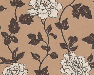 A.S. Création Wallpaper «Flowers, Beige, Brown, Cream» 366956