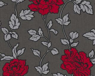 A.S. Création Tapete «Blumen, Metallics, Rot, Schwarz, Silber» 366957