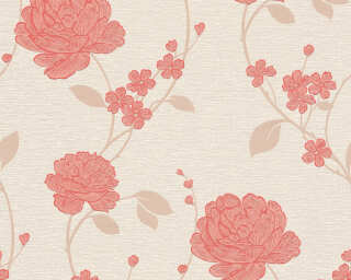 A.S. Création Tapete «Blumen, Beige, Metallics, Rot» 367011