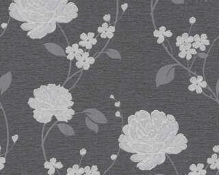 A.S. Création Tapete «Blumen, Metallics, Schwarz, Silber» 367012
