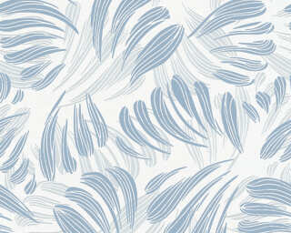 A.S. Création Tapete «Grafik, Floral, Blau, Metallics, Weiß» 367032