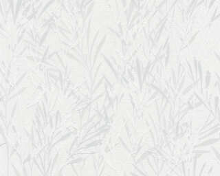 A.S. Création Wallpaper «Floral, Grey, White» 367121