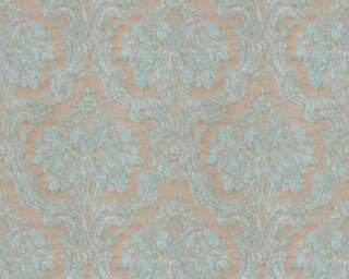 Livingwalls Wallpaper «Baroque, Blue, Brown, Green, Turquoise» 367164