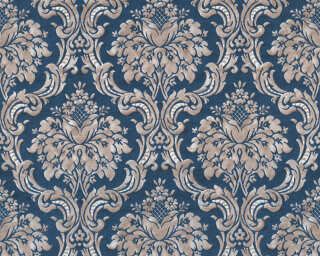 Livingwalls Wallpaper «Baroque, Beige, Blue, Gold, Metallic» 367167