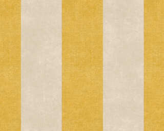 Livingwalls Wallpaper «Stripes, Brown, Yellow» 367182