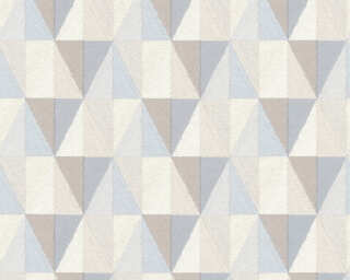 A.S. Création Wallpaper «Graphics, Blue, Brown, Grey» 367231