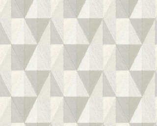 A.S. Création Wallpaper «Graphics, Cream, Grey, White» 367232