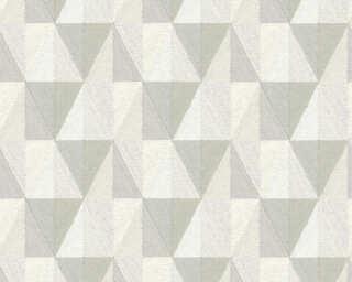 A.S. Création papier peint «Graphique, blanc, crème, gris» 367232
