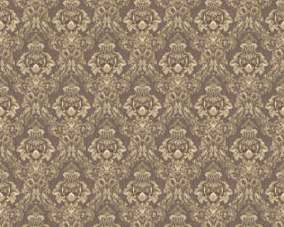 A.S. Création Wallpaper «Fabric, Brown, Metallic, White» 367323