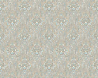 A.S. Création Wallpaper «Fabric, Beige, Blue, Brown» 367326
