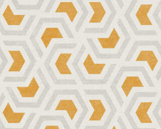 A.S. Création Wallpaper «Graphics, Brown, Grey, Orange, White» 367602