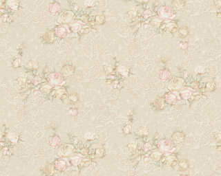 A.S. Création Tapete «Floral, Beige, Grün, Rosa, Türkis» 367682