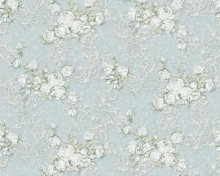 A.S. Création Tapete «Floral, Blau, Grün, Weiß» 367684