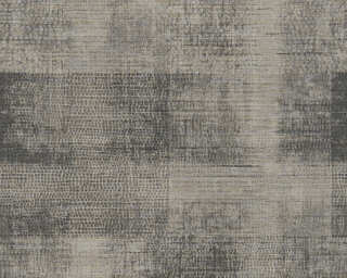 A.S. Création Wallpaper «Fabric, Beige, Black, Grey, Taupe» 367733