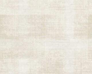 A.S. Création papier peint «Textile, beige, blanc, crème» 367734