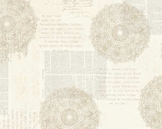 A.S. Création papier peint «Baroque, beige, crème, gris, taupe» 367751