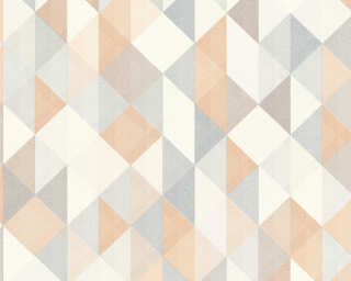 A.S. Création Wallpaper «Graphics, Beige, Brown, Grey, Silver» 367862