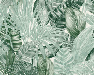 A.S. Création Wallpaper «Jungle, Green, White» 368201