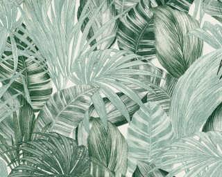 A.S. Création papier peint «Jungle, blanc, vert» 368201