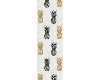 Livingwalls panneau «Graphique, Floral, beige, crème, jaune, marron» 368271